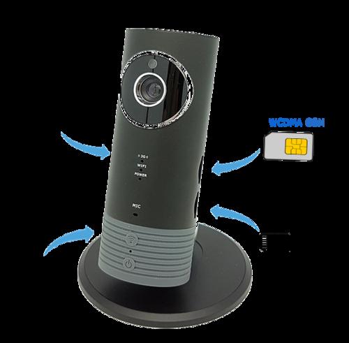 CAMERA SIM 3G/4G - CLEVER DOG - 720P 1.0MPX HỖ TRỢ SIM 3G VÀ CÓ PIN LƯU TRỮ.