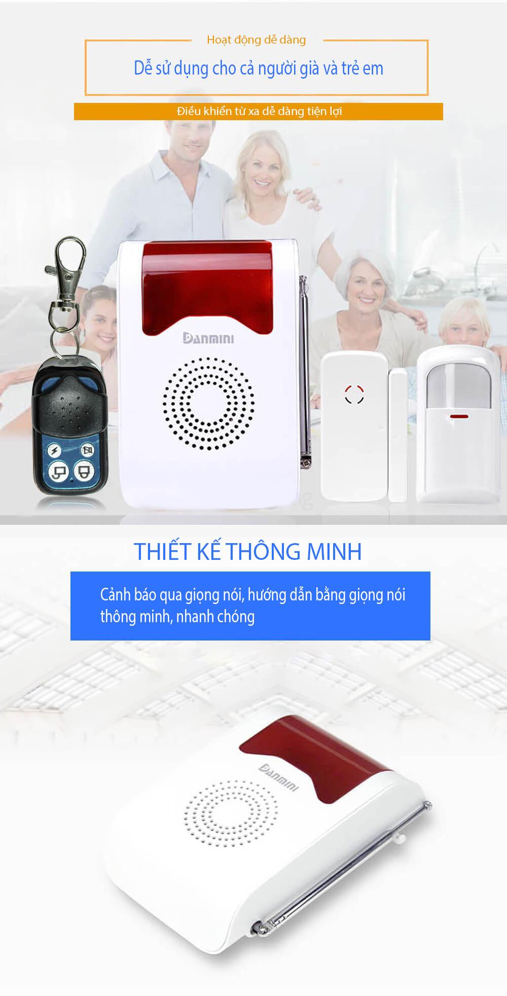 HỆ THỐNG BÁO ĐỘNG KHÔNG DÂY GSM DANMINI Y302A