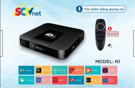 SCTV Android Box Cao cấp hàng nhập khẩu - Remote Voice Search