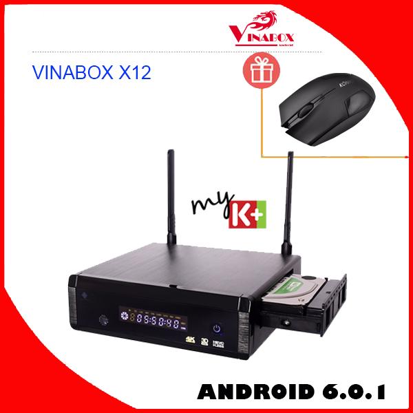 VINABOX X12 – HDPLAYER ANDROID 6.0.1 CHIP REALTEK RTD1295