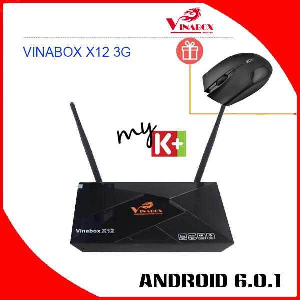 VINABOX X12 3G – RAM 3G, ROM 16G, MẠNH MẼ CHIP S912 – 8 NHÂN.
